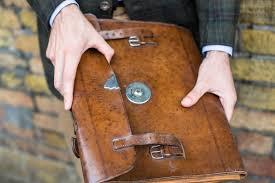 vintage folio case leather