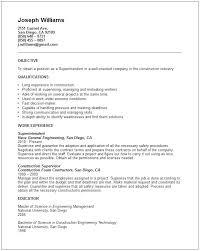 Sample Construction Superintendent Resume Apartment Superintendent Sample Resume Ruseeds Co