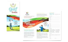Non Profit Brochure Templates Free Charity Golf Event Brochure Template Design Brochures For