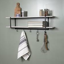 tatem two tier wall mounted coat rack