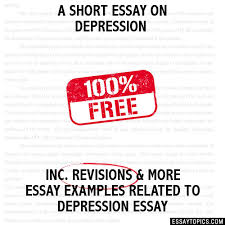 short essay on depression a short essay on depression