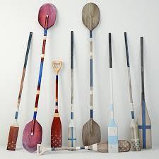 vintage wooden paddles and oars by jeffan 3d model