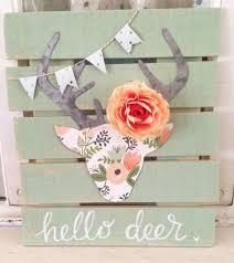 cute and creative diy fl deer head pallet art decorpp w670 h750