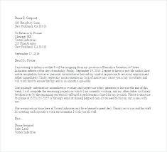 Job Resignation Letter Template Formal Resignation Letter Template Sample Free Templates