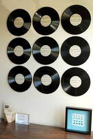 vinyl record wall art diy sthash