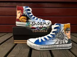 Custom <b>Uzumaki Naruto Gaara</b> Converse Canvas Shoes Fashion ...