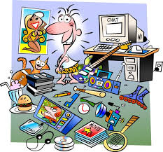 bedroom messy clipart
