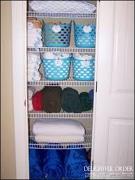 organize your bathroom linen closet