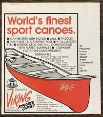 1978 Duane Erickson's Viking Explorer Canoes Salt Lake City Print Ad | eBay