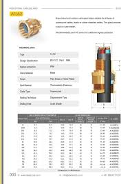 A1 A2 Gland Chart Cable Gland Dada Corp