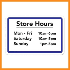 12 13 Holiday Hours Sign Template Free Lascazuelasphilly Com