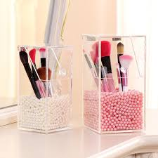 Fashion Crystal Acrylic Makeup Brush Storage Box Organizer Case With Beads  Cosmetic Box Holder Lipstick Case For Beauty Girl Cosmetics Brands Craft  Storage ...
