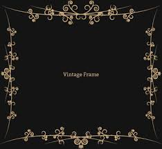 Black vintage frame design Wedding Swirl Vintage Frame Border Allfreedownloadcom Black And White Vintage Frame Border Free Vector Download 24071