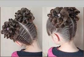 Если требуется зрительно увеличить густоту волос, можно просто сделать начес. Detskie Pricheski Na Vypusknoj V Detskij Sad Dlya Devochki 14 Tys Izobrazhenij Najdeno V Yandeks Karti Baby Hairstyles Braided Hairstyles Easy Baby Girl Hairstyles
