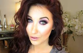 purple glitter makeup tutorial love her makeup tutorials they are so amazing