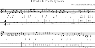 read sheet music mandolin tab and sheet music for song i read it in the daily news