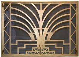 Image Hand Forged Burnished Art Deco Fireplace Screen Doors Art Deco Firescreen Doors Custom Hand Forged Firescreens For Your Fireplace Ironforgecom Burnished Art Deco Fireplace Screen Doors Ironforgecom