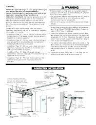 craftsman support chamberlain 1 2 hp garage door opener installation instructions craftsman 1 2 hp garage