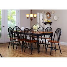 better homes and gardens dining table. Better Homes And Gardens Black/Oak Autumn Lane 9-Piece Dining Set With Leaf Table