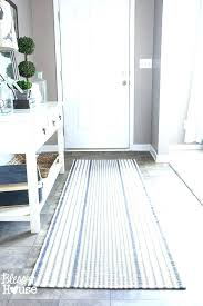 navy striped runner rug