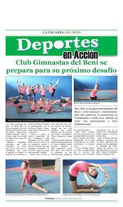 Deportes en Acción, 25 de Octubre de 2019 by La Palabra del Beni - issuu