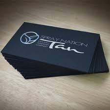 Black Suede Business Cards Letter Pressed With An Array Of Options