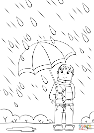 Small Picture Boy with Umbrella coloring page Free Printable Coloring Pages