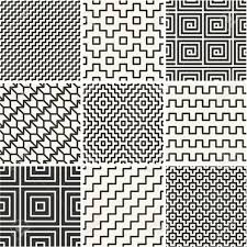 Simple Patterns Mesmerizing Vector Mono Line Backgrounds With Simple Patterns Royalty Free
