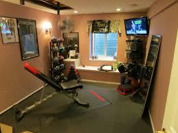 Interior:Modern Basement Home Gym Design Idea Small Basement Gym Room  Design Idea