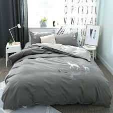brown duvet cover king grey brown bedding set queen king size deer elephant bed set cotton