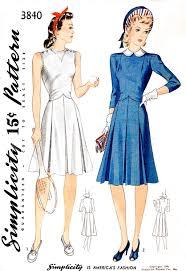 1940s Dress Patterns Amazing 48s Dress Vintage Sewing Pattern Tennis Sportswear Lady Marlowe