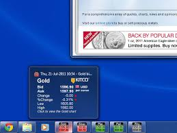 Live Market Quotes New Kcast For Windows Live Prices For Gold Silver Platinum