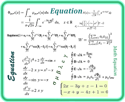 type math and science equations