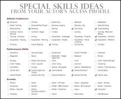 professional skills list resume job skills list competencies for resume job interview site