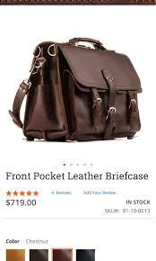 saddleback leather front pocket briefcase men s fashion bags wallets briefcases on carou