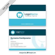 dental visiting card design dental business card vector free download
