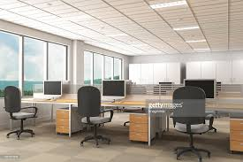 Interior of modern office with carpet flooring : Stock Photo