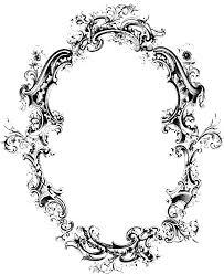 fancy victorian frames motif filigree frame transpa png