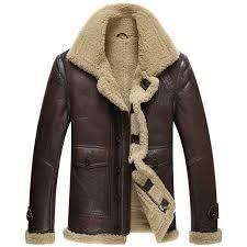 100 leather jacket men shearling b3 fur