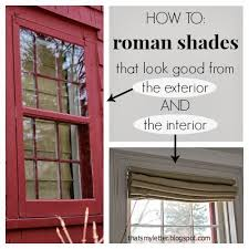 Exterior Window Design Delectable DIY Self Lined Roman Shades Jaime Costiglio