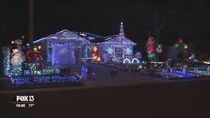 Christmas Lights House Synchronized Music Tampa Home Has 55 000 Christmas Lights Synced To Music