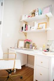 work desk ideas white office. How To Make A Small Office Space Work! - The Fashionista\u0027s Diary Rachel George White And Gold Vegan Leather Chair Work Desk Ideas