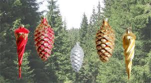 Zapfen Und Eiszapfen Für Den Weihnachtsbaum Aus Lauschaer Glas