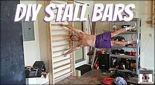 diy stall bars garage gym