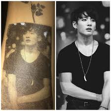 I Made A Jungkook Tattoo On My Arm By My Self Jungkook