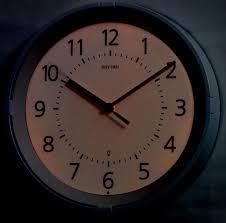 gemini lighted wall clock by rhythm clocks