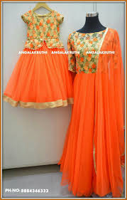 Mother Designer Chennai Mom N Me Matching Dress Designs By Angalakruthi Boutique