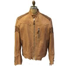 g gator men s nubuck exotic leather jacket wash stone alligator trim