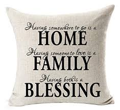 Pillow Quotes Simple Amazon Nordic Simple Warm Sweet Quotes Black Home Family