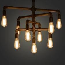 Industrial-LOFT-<b>IRON</b>-<b>PIPE</b>-Ceiling-Pendant-Light-Chandelier ...